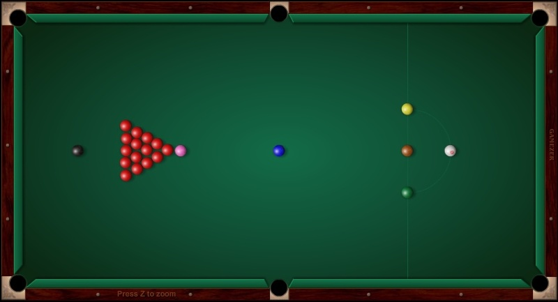 Snooker ball position - Cue Sport LV