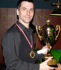 Māris Volajs professional snooker coach in Latvia - Cue Sport LV